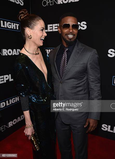 Actors Michelle Monaghan and Jamie Foxx attend the Premiere of Open Road Films' Sleepless at Regal LA Live Stadium 14 on January 5 2017 in Los...