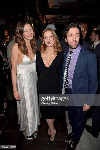 L s magazines stock photos and pictures getty images actors michelle monaghan jessica chastain and simon helberg attend the hollywood foreign press association and instyles sciox Images