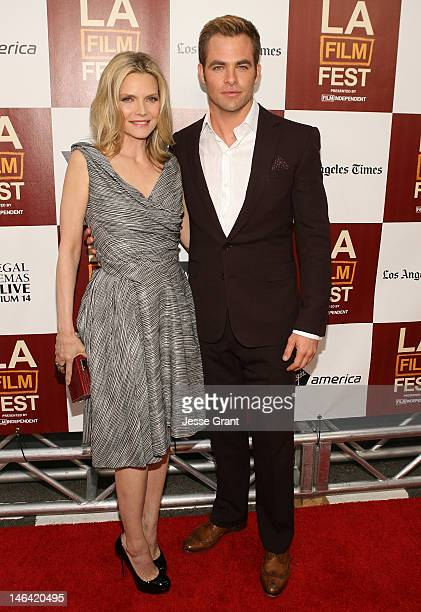 Actors Michelle Pfeiffer and Chris Pine attend the 2012 Los Angeles Film Festival Premiere of 'People Like Us' at Regal Cinemas L.A. LIVE Stadium 14...