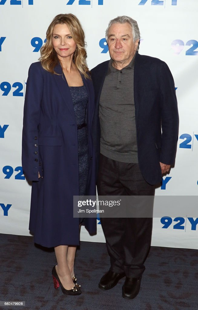 Actors Michelle Pfeiffer and Robert De Niro attend the 'The Wizard Of Lies' presented by 92Y May 12, 2017 in New York City.