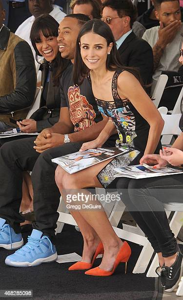 Actors Michelle Rodriguez Ludacris and Jordana Brewster attend Vin Diesel's Hand/Footprint Ceremony At TCL Chinese Theatre at TCL Chinese Theatre...