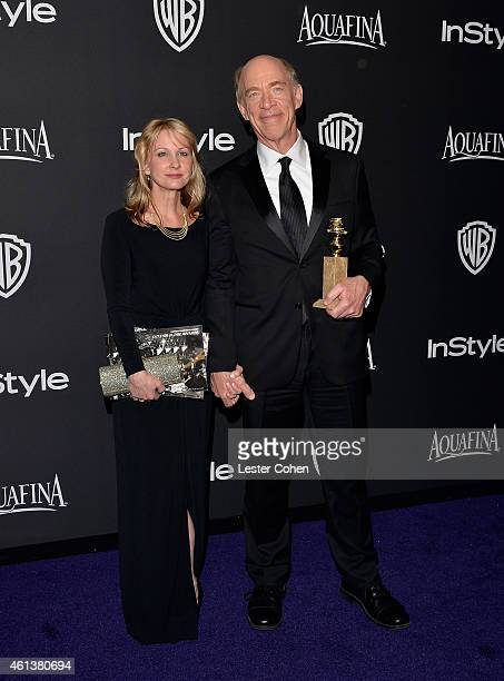Actors Michelle Schumacher and JK Simmons attend the 16th Annual Warner Bros and InStyle PostGolden Globe Party at The Beverly Hilton Hotel on...