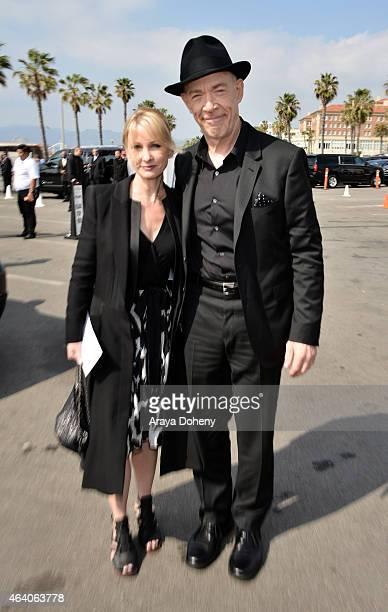 Actors Michelle Schumacher and JK Simmons attend the 2015 Film Independent Spirit Awards at Santa Monica Beach on February 21 2015 in Santa Monica...