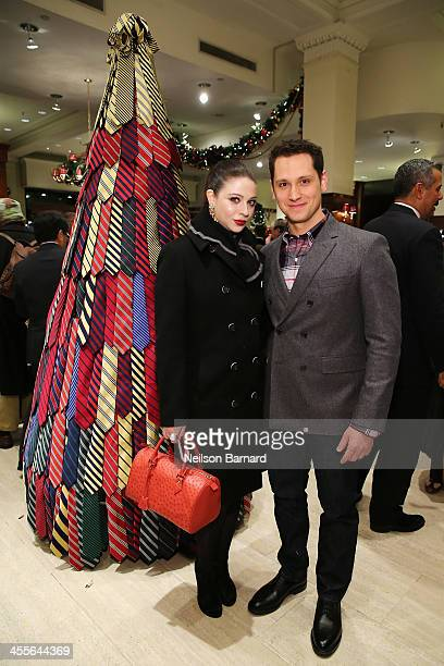 Actors Michelle Trachtenberg and Matt McGorry attend as Brooks Brothers celebrates the holidays with St. Jude Children's Research Hospital on...