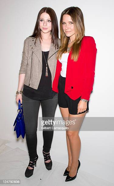 Actors Michelle Trachtenberg and Sophia Bush attend the Rebecca Minkoff Spring 2012 fashion show during Mercedes-Benz Fashion Week at The Studio at...
