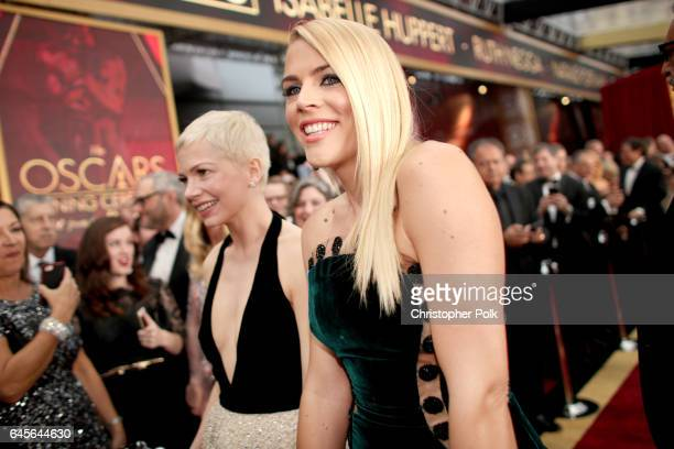Actors Michelle Williams and Busy Philipps attend the 89th Annual Academy Awards at Hollywood Highland Center on February 26 2017 in Hollywood...