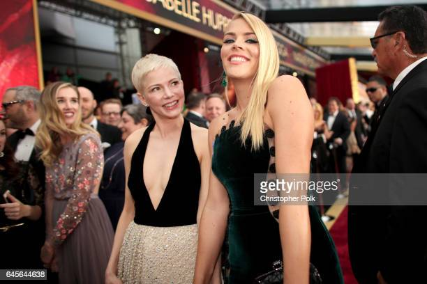 Actors Michelle Williams and Busy Philipps attend the 89th Annual Academy Awards at Hollywood & Highland Center on February 26, 2017 in Hollywood,...