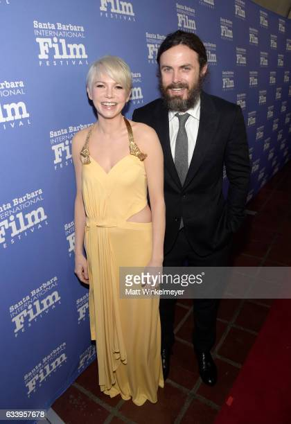 Actors Michelle Williams and Casey Affleck attend the Cinema Vanguard Award during the 32nd Santa Barbara International Film Festival at the...