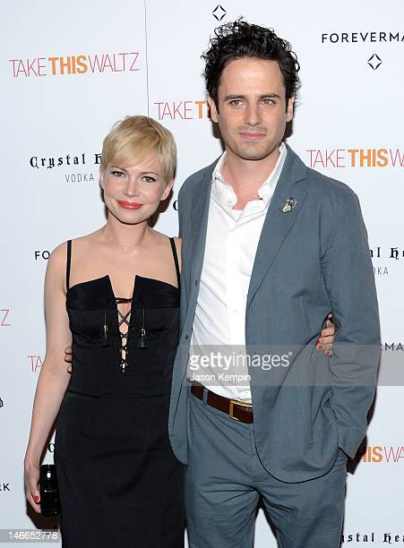 Actors Michelle Williams and Luke Kirby attend the Take This Waltz Special New York Screening at Sunshine Landmark on June 21 2012 in New York City