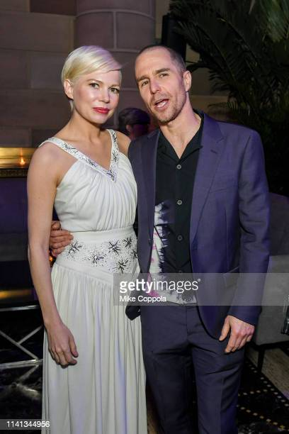 """Actors Michelle Williams and Samm Rockwell attend FX's """"Fosse/Verdon"""" New York Premiere After Party at Gotham Hall on April 08, 2019 in New York City."""