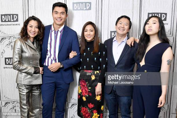 Actors Michelle Yeoh Henry Golding Constance Wu Ken Jeong and Nora Lum aka Awkwafina visit Build to discuss the movie 'Crazy Rich Asians' at Build...