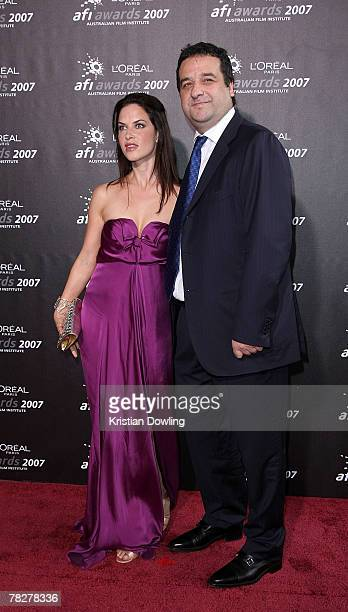 Actors Mick Molloy and Victoria Hill arrives at the L'Oreal Paris 2007 AFI Awards Dinner at the Melbourne Exhibition Centre on December 6 2007 in...