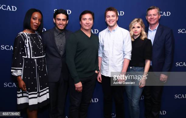 Actors Mickaelle X Bizet Richard Cabral Benito Martinez Connor Jessup Ana MulvoyTen and Executive producer Michael McDonald attend the QA for...