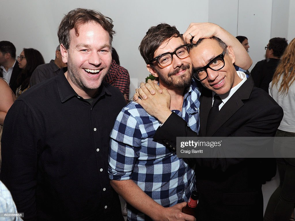 Actors Mike Birbiglia, Jorma Taccone and Fred Armisen attend as IFC, New York Magazine and Vulture host the premiere of 'Documentary Now' at the New Museum on September 12, 2016 in New York City.