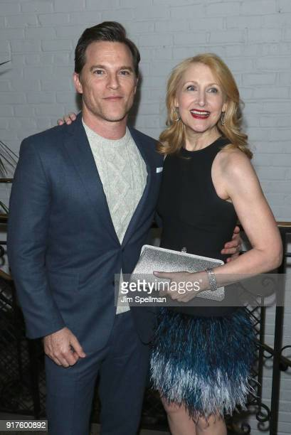 Actors Mike Doyle and Patricia Clarkson attend the screening after party for 'The Party' hosted by Roadside Attractions and Great Point Media with...