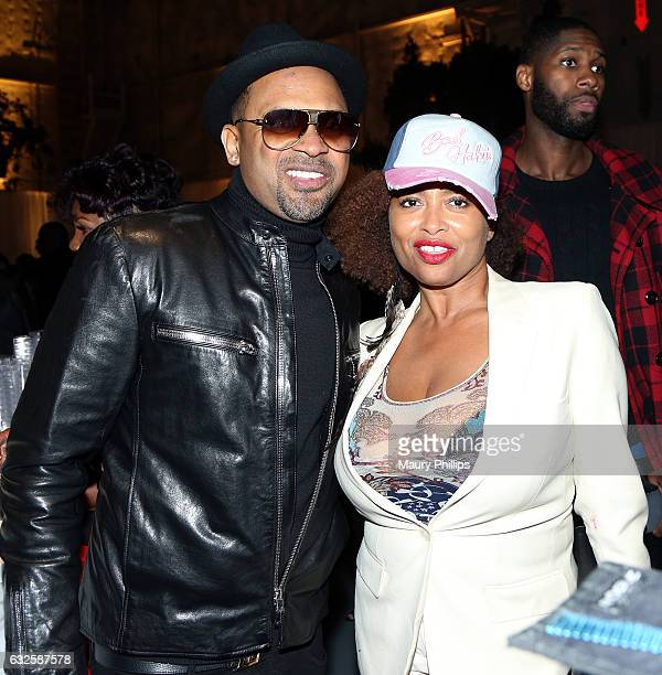 Actors Mike Epps and Lisa Nicole Carson attend the after party for BET's 'The New Edition Story' on January 23 2017 in Los Angeles California