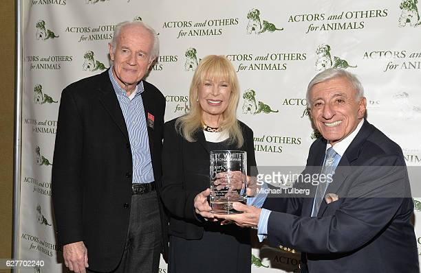 Actors Mike Farrell Loretta Swit and Jamie Farr attend Actors And Others For Animals' Joy To The Animals luncheon fundraiser at Universal City Hilton...