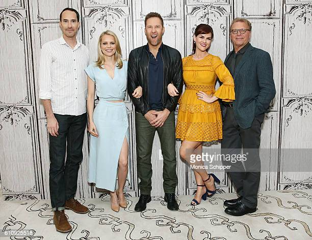 Actors Mike Kosinski Mircea Monroe Michael Rosenbaum Sara Rue and attend BUILD Speaker Series Presents Michael Rosenbaum Sara Rue Mircea Monroe David...