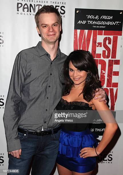 Actors Mike Lamond and Rosanna Pansino attend the opening night of 'West Side Story' at the Pantages Theatre on December 1 2010 in Hollywood...
