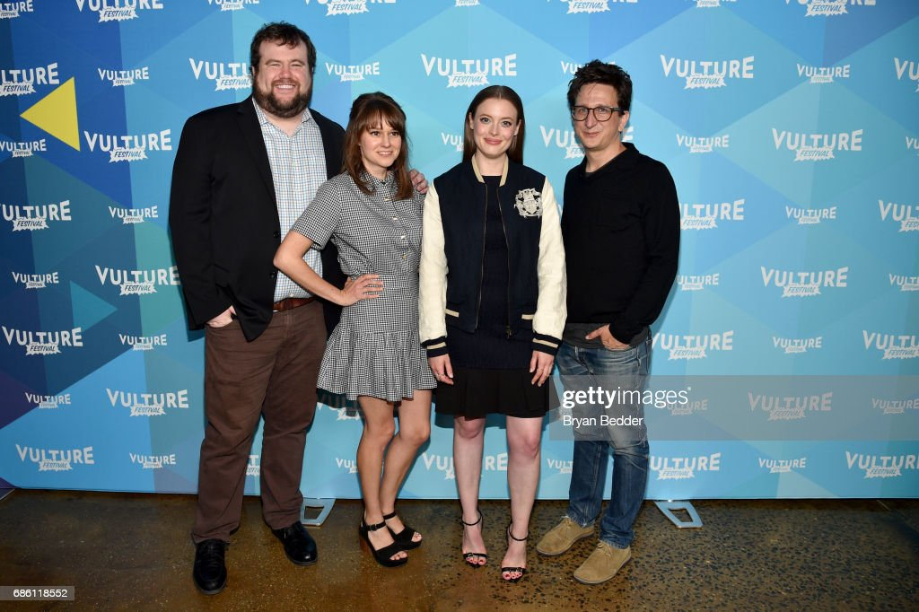 Actors Mike Mitchell, Claudia O'Doherty, Gillian Jacobs and Paul Rust attend the 2017 Vulture Festival at Milk Studios on May 20, 2017 in New York City.