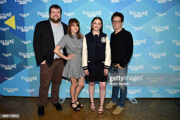 Actors Mike Mitchell Claudia O'Doherty Gillian Jacobs and Paul Rust attend the 2017 Vulture Festival at Milk Studios on May 20 2017 in New York City