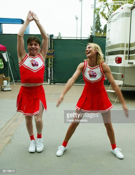 Actors Mike Myers and Cameron Diaz rehearse before Nickelodeon's 17th Annual Kids' Choice Awards at Pauley Pavilion on the campus of UCLA April 3...