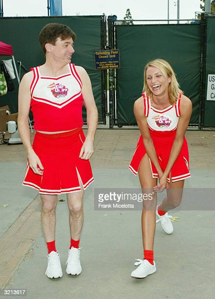 Actors Mike Myers and Cameron Diaz rehearse before Nickelodeon's 17th Annual Kids' Choice Awards at Pauley Pavilion on the campus of UCLA, April 3,...