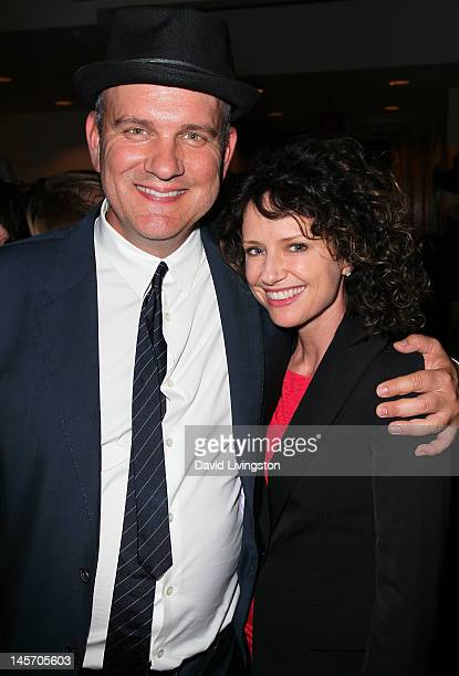 Actors Mike O'Malley and Jean Louisa Kelly attend the opening night of No Way Around But Through at the Falcon Theatre on June 3 2012 in Burbank...