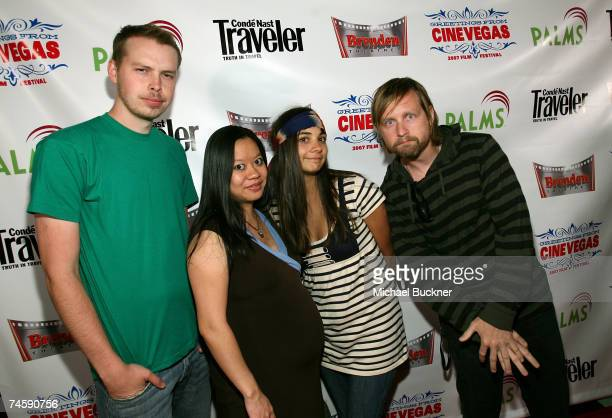 Actors Mike Thompson Maymay Luong Melody Melendez and JT Gurzi from the film Spanking Lessons attend the Nevada Shorts screening held at the Brenden...