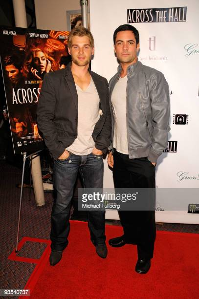 Actors Mike Vogel and Danny Pino arrive at the premiere of Across The Hall on December 1 2009 in Beverly Hills California