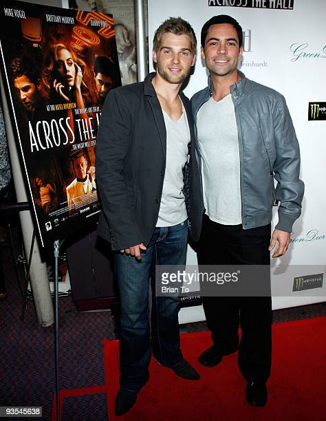 Actors Mike Vogel and Danny Pino attend Across The Hall Los Angeles Premiere at Laemmle's Music Hall 3 on December 1 2009 in Beverly Hills California