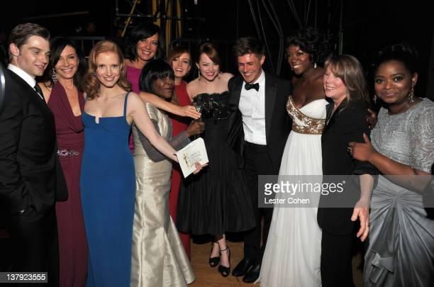 Actors Mike Vogel, Mary Steenburgen, Jessica Chastain, Allison Janney, Cicely Tyson, Ahna O'Reilly, Emma Stone, Chris Lowell, Viola Davis, Sissy...
