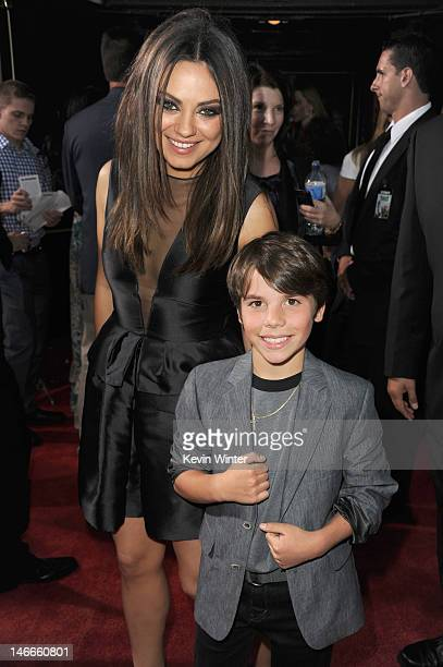 Actors Mila Kunis and Brett Manley arrive at the Premiere of Universal Pictures' 'Ted' sponsored in part by AXE Hair at Grauman's Chinese Theatre on...