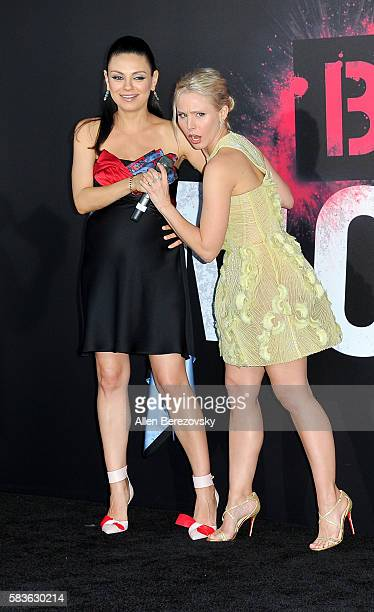 Actors Mila Kunis and Kristen Bell attend the Premiere of STX Entertainment's Bad Moms at Mann Village Theatre on July 26 2016 in Westwood California