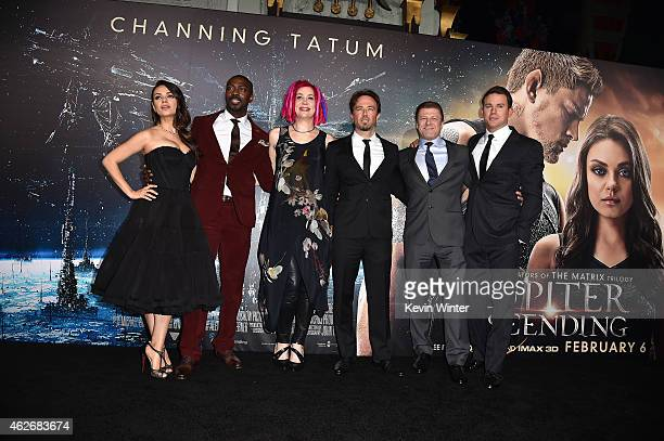 Actors Mila Kunis David Ajala Director Lana Wachowski actors Kick Gurry Sean Bean and Channing Tatum attend the premiere of Warner Bros Pictures'...