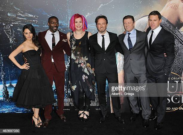 Actors Mila Kunis David Ajala director Lana Wachowski Kick Gurry Sean Bean and Channing Tatum arrive for the Premiere Of Warner Bros Pictures'...