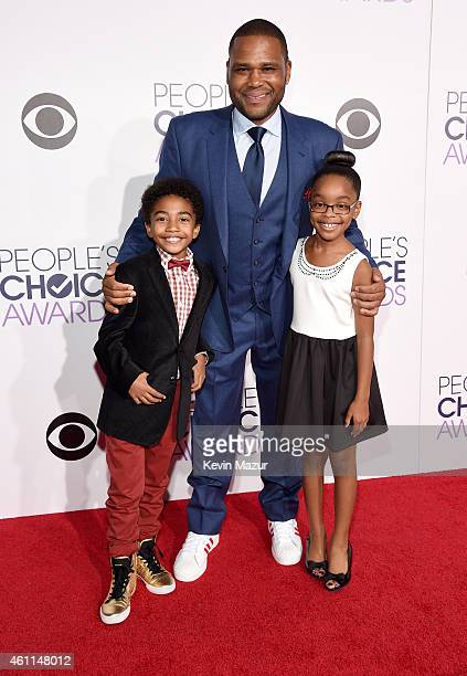 Actors Miles Brown Anthony Anderson and Marsai Martin attend The 41st Annual People's Choice Awards at Nokia Theatre LA Live on January 7 2015 in Los...