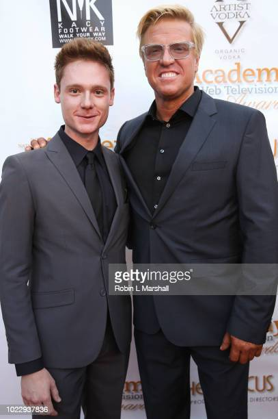 Actors Miles Tagtmeyer and Jake Busey attend the 6th International Academy of Web Television Awards at Skirball Cultural Center on August 24 2018 in...