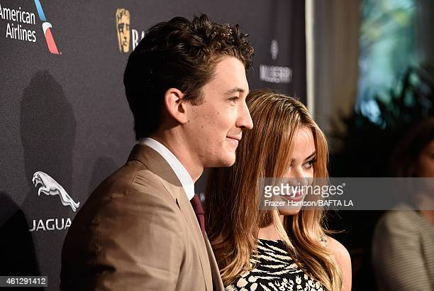 Actors Miles Teller and Keleigh Sperry attend the BAFTA Los Angeles Tea Party at The Four Seasons Hotel Los Angeles At Beverly Hills on January 10,...