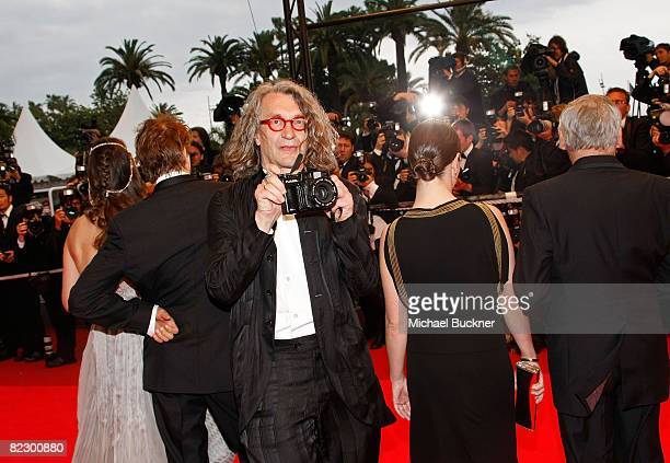 """Actors Milla Jovovich, Campino, director Wim Wenders, actress Giovanna Mezzogiorno, and Dennis Hopper arrives at the """"Palermo Shooting"""" held at the..."""