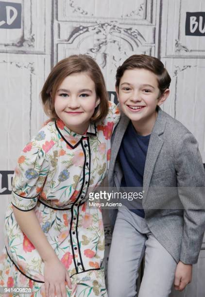 Actors Millicent Simmonds and Noah Jupe visit BUILD to discuss the movie 'A Quiet Place' at Build Studio on April 3 2018 in New York City