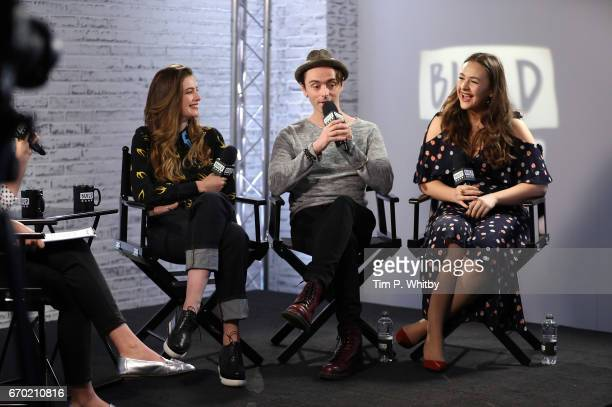 Actors Millie Brady David Dawson and Eliza Butterworth discuss their roles in BBC 2's The Last Kingdom at the Build LDN event on April 19 2017 at AOL...