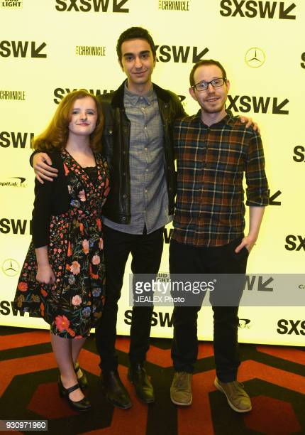 Actors Milly Shapiro Alex Wolff and director Ari Aster attend the premiere of 'Hereditary' during SXSW at Alamo Lamar on March 11 2018 in Austin Texas