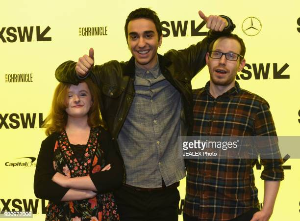 Actors Milly Shapiro Alex Wolff and director Ari Aster attend the premiere of Hereditary during SXSW at Alamo Lamar on March 11 2018 in Austin Texas