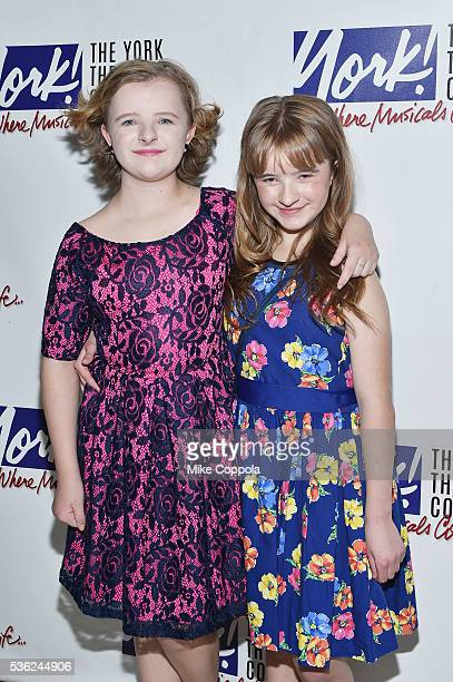 Actors Milly Shapiro and Abigail Shapiro attend 'You're A Good Man Charlie Brown' Opening Night After Party at Dylan's Candy Bar on May 31 2016 in...