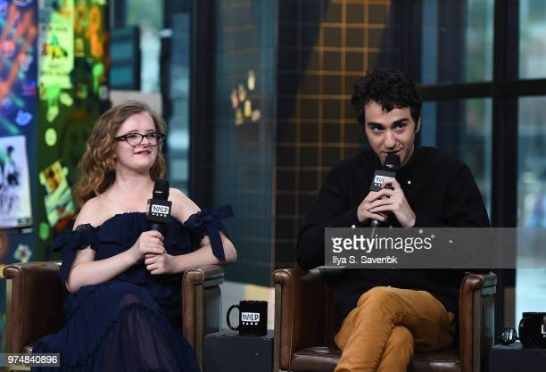 Actors Milly Shapiro and Alex Wolff visit Build Series to promote 'Hereditary' at Build Studio on June 14 2018 in New York City