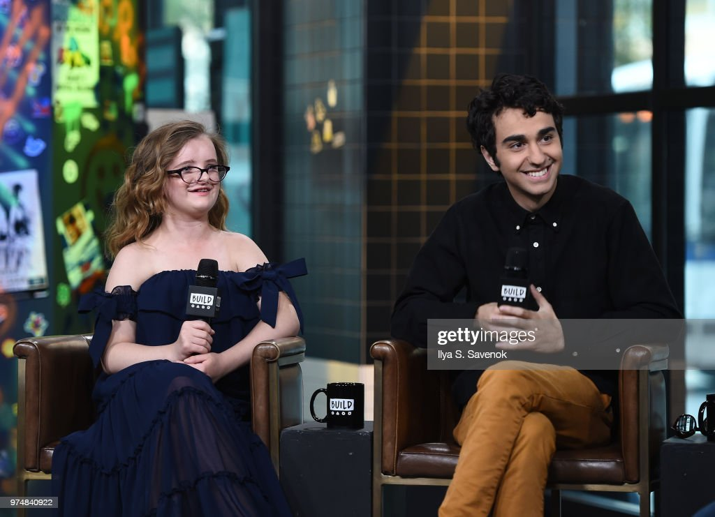 Actors Milly Shapiro and Alex Wolff visit Build Series to promote 'Hereditary' at Build Studio on June 14, 2018 in New York City.