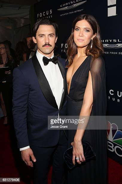 Actors Milo Ventimiglia and Mandy Moore attend the Universal NBC Focus Features E Entertainment Golden Globes after party sponsored by Chrysler on...