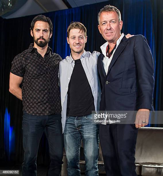 Actors Milo Ventimiglia Ben McKenzie and Sean Pertwee attend Wizard World Comic Con Chicago 2015 Day 4 at Donald E Stephens Convention Center on...
