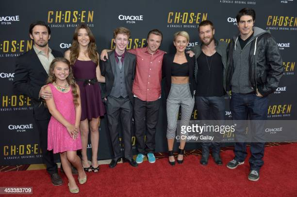 Actors Milo Ventimiglia Caitlin Carmichael Sarah Roemer Joey Luthman Brett Davern Nicky Whelan Chad Michael Murray and Brandon Routh attend Crackle's...